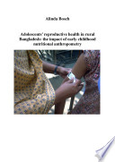 Adolescents  Reproductive Health in Rural Bangladesh