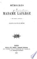 Mémoires de Marie Cappelle veuve Lafarge