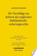 Die Vorschläge zur Reform des englischen Mobiliarkreditsicherungsrechts