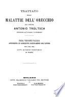 Trattato delle malattie dell orecchio del dottor Antonio Troltsch