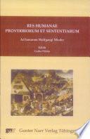 Res humanae proverbiorum et sententiarum