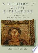History of Greek Literature