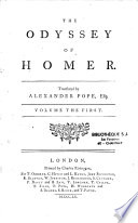 The Odyssey of Homer. Translated by Alexander Pope,...