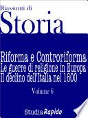 Riassunti di Storia   Volume 6