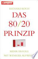 Das 80 20 Prinzip