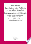 Foreign relations with Ethiopia human and diplomatic history (from its origins to present)