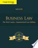 Cengage Advantage Books  Business Law  The First Course   Summarized Case Edition