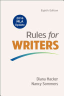 Rules for Writers with Writing about Literature (Tabbed Version) with 2016 MLA Update