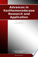 Advances in Xanthomonadaceae Research and Application  2012 Edition