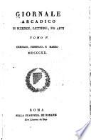 Giornale arcadio di scienze  lettere  ed arti