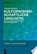 Kulturwissenschaftliche Linguistik