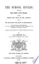 The school Euclid  comprising the first four books  by A K  Isbister