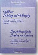 Children, thinking and philosophy
