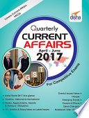 Quarterly Current Affairs   April to June 2017 for Competitive Exams