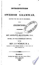 An Introduction to Swedish Grammar