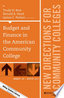 Budget and Finance in the American Community College