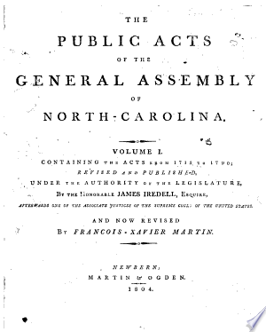 The Public Acts Of The General Assembly Of North-Carolina: Volume I Containing The Acts From 1715 To 1790 img-1