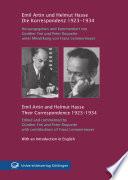 Die Korrespondenz 1923 - 1934