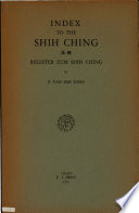 Index to the Shih Ching