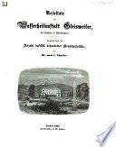 Resultate der Wasserheilanstalt Gleisweiler bei Landau in Rheinbayern