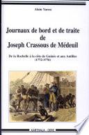Journaux de bord et de traite de Joseph Crassous de M  deuil
