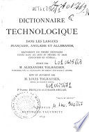 *Technological dictionary in the English, German & French languages