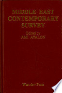 Middle East Contemporary Survey 1991