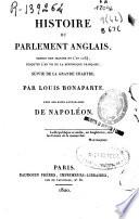 Histoire du parlament anglais