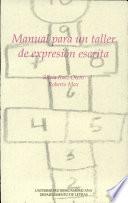 Manual para un taller de expresión escrita
