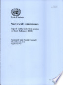Report of the Statistical Commission on the Forty first Session  23 to 26 February 2010