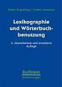 Lexikographie und W  rterbuchbenutzung