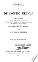 Arsenal Du Diagnostic M Dical