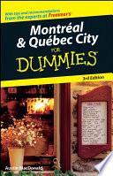 Montral   Qubec City For Dummies