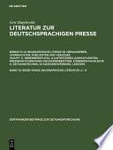 98385-110925. Biographische Literatur. A - E