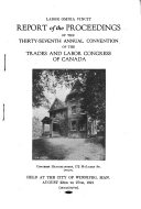 Report of the Proceedings of the     Annual Convention
