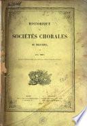 Historique des sociétés chorales de Belgique