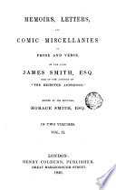 download ebook memoirs, letters and comic miscellanies in prose and verse of the late james smith esq. one of the authors of ,2 pdf epub