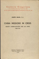 China Missions in Crisis