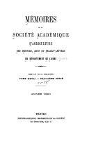Mémoires de la société archéologique de Touraine, tome LV