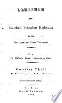 Lehrbuch der historisch kritischen einleitung in die kanonischen bücher des Neuen Testaments