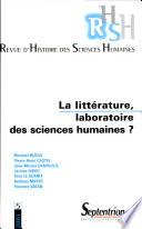 RHSH n°5 - La littérature, laboratoire des sciences humaines ?