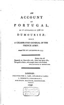 An Account of Portugal, as it Appeared in 1766 to Dumouriez