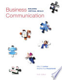 Business Communication  Building Critical Skills