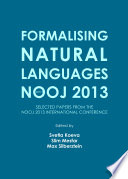 Formalising Natural Languages with NooJ 2013