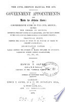 The Civil service manual for 1879 Government appointments and how to obtain them