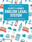 Elliott and Quinn  s English Legal System