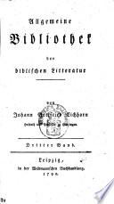 Allgemeine Bibliothek der Biblischen Literatur
