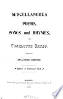 Miscellaneous Poems  Songs and Rhymes