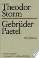 Theodor Storm   Gebr  der Paetel