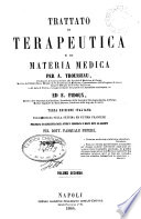 Trattato di terapeudica e di materia medica